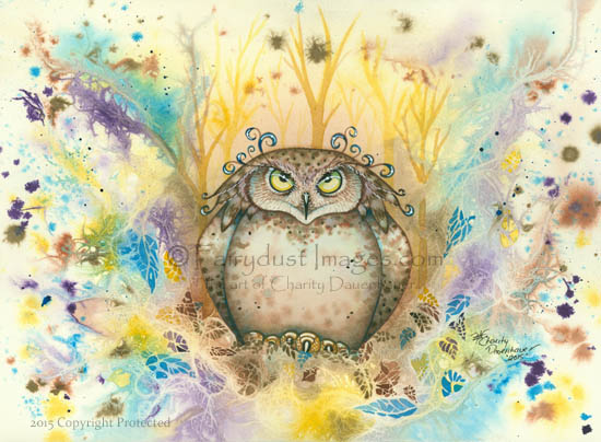 Hootie, Owl With A Attitude Art Print