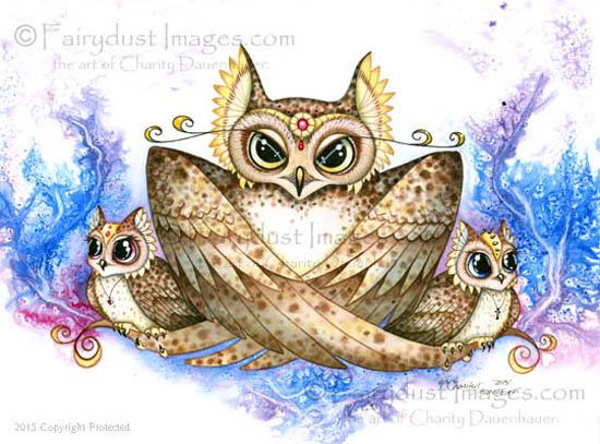 Mama Gives a Hoot, Mother Owl Art Print