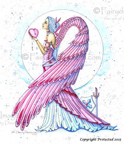 Pink Warrior, Breast Cancer Angel Art Print