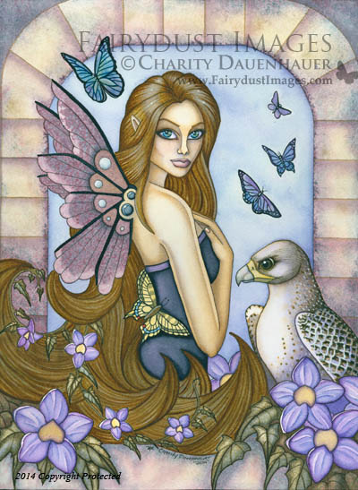 Rayna, Fairy and Falcon Art Print