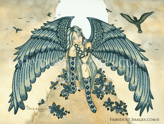 Remembrance, Mourning Angel Art Print