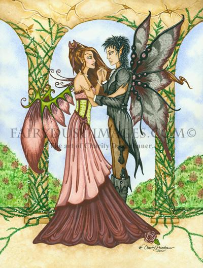 Romantic Moment, Married Fairy Art Print