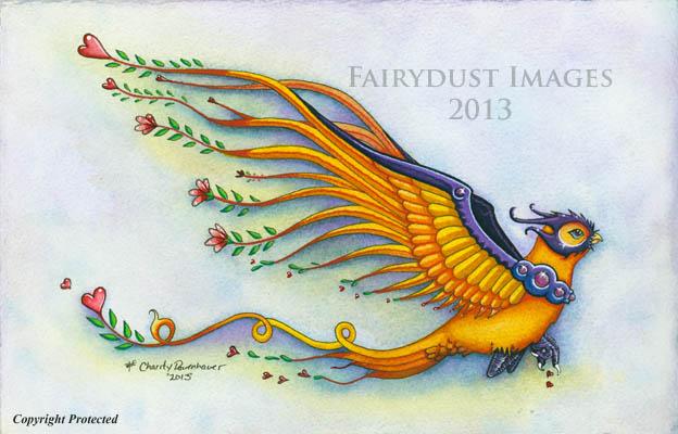 Romeo, Fantasy Bird Art Print
