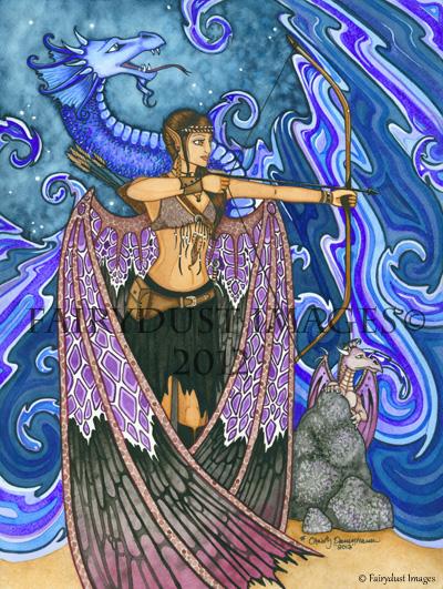 Keeper of Dragons, Warrior Fairy Art Print