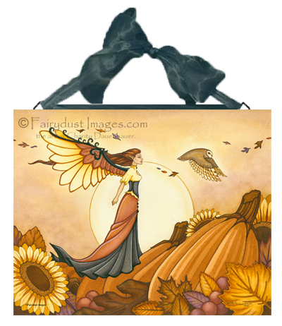 Autumn Breeze, Fairy Art Tile
