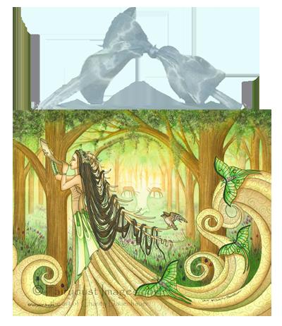 Beautiful Distraction, Fairy Elf Art Tile
