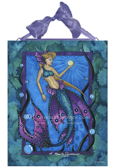 Deep Blue Waters, Mermaid Art Tile