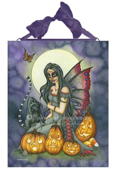 Fright Night, Spooky Fairy Art Tile
