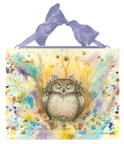 Hootie, Owl Art Tile