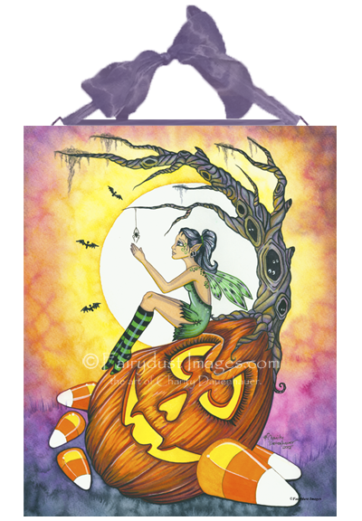 The Itsy Bitsy Spider, Halloween Fairy Art Tile