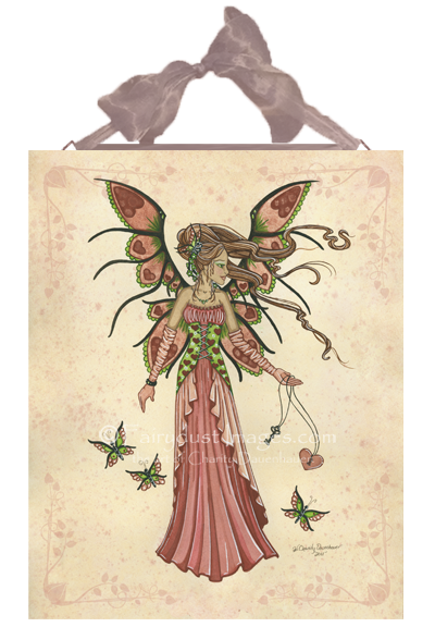 Keeper of Hearts, Valentine's Day Fairy Art Tile