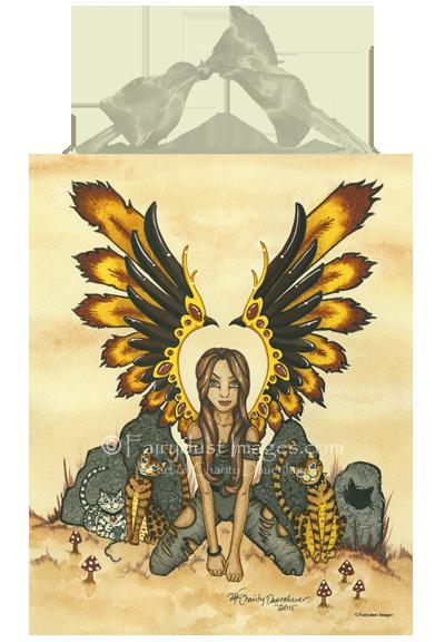Misfit Kitty, Fairy Art Tile