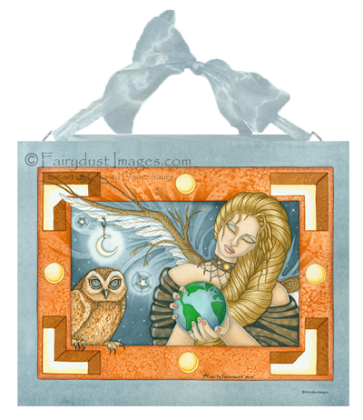 Mother Earth, Angel Art Tile