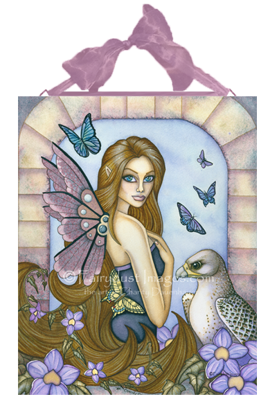 Rayna, Falcon Fairy Art Tile