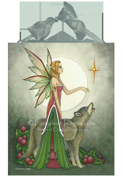 Silent Night, Christmas Fairy Art Tile