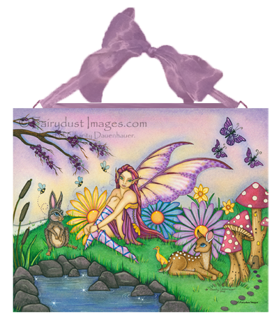 Spring Blossoms, Seasonal Fairy Art Tile