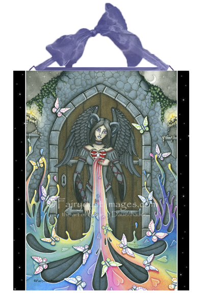 The Beauty Within, Judge Not Angel Art Tile