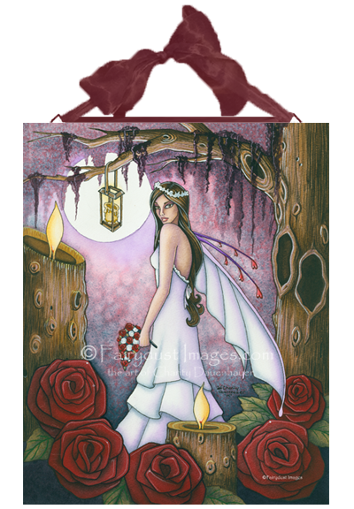 Bride of Red Roses, Fairy Art Tile
