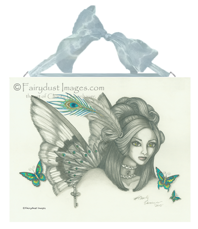 Victorian Steam, Fairy Face Art Tile