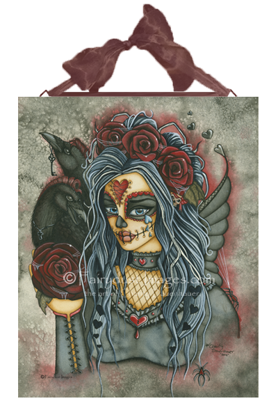 Wild Heart, Fairy Sugar Skull Face Art Tile