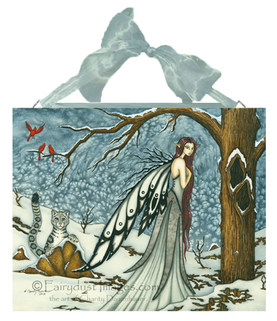 Winter Bliss, Fairy Art Tile