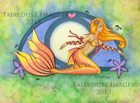 Under the Sea, Mermaid Art Print