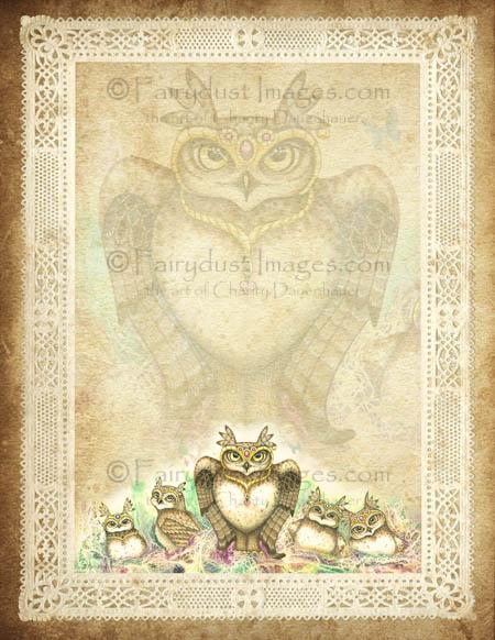 The Family Hoot, Owl Stationary Set