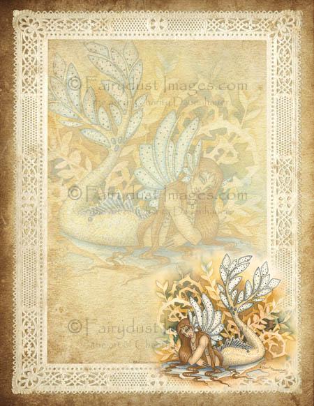 Woodland Tail, Mermaid Stationary Set