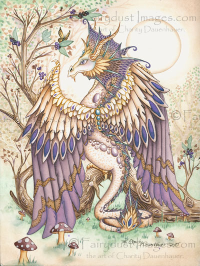 Beauty, Dragon Art Print