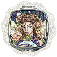 Angel Face Compact Mirror