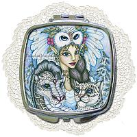 Winter's Snow Queen Compact Mirror