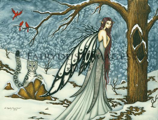 Winter Bliss, Snow Fairy Art Print