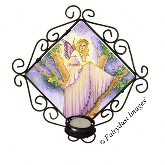 A Place to Hide, Fairy Tile Candle Sconce