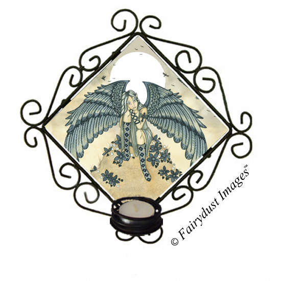 Remembrance, Angel Tile Candle Sconce