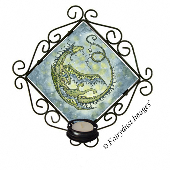 Star Dancer, Dragon Tile Candle Sconce