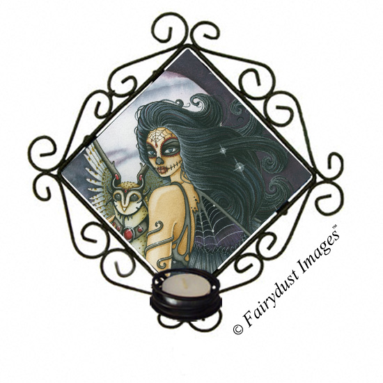 The Night Keeper, Day of the Dead Tile Candle Sconce