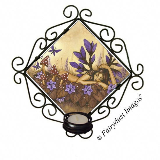 Woodland Fairy, Tile Candle Sconce