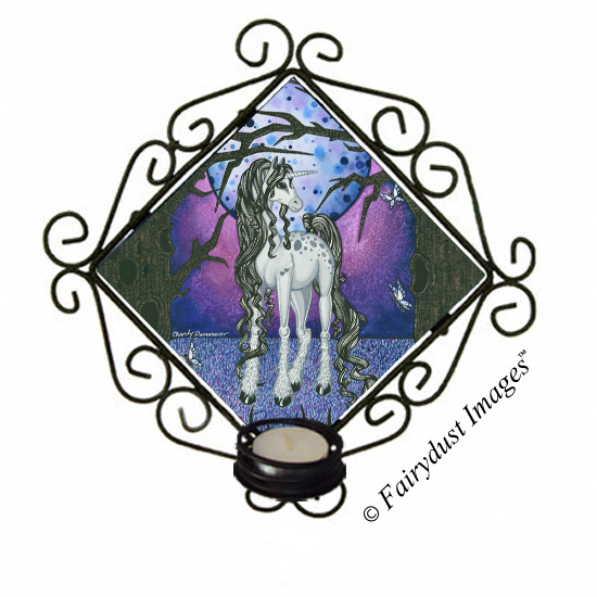 Unicorn Dreams, Tile Candle Sconce