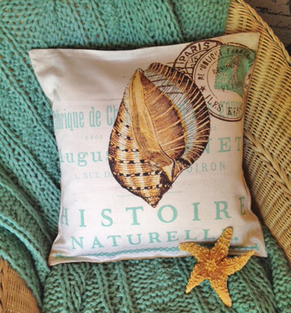 French Sea Shell Pillow Slip