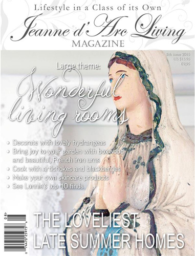Jeanne d' Arc Living Magazine August