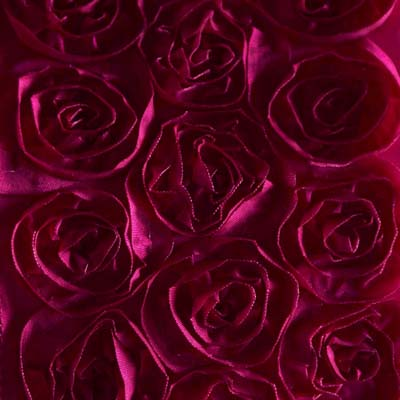 Berry Pink Roses Fabric Ribbon