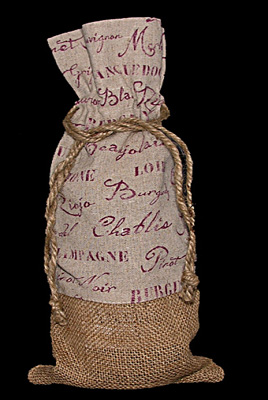 Burlap And Linen Gift Bag